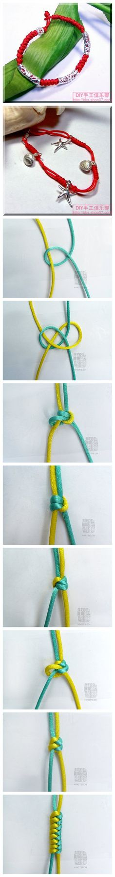 DIY Weave Bracelet - a new knot to me; I'd like to try this.