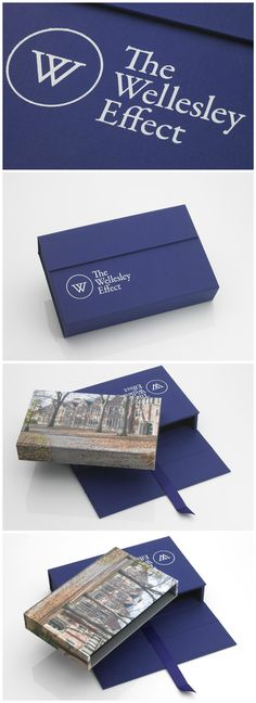 Portfoliobox- Wellesley College Custom Slipcase for Wellesley College capital campaign for architectural renovations. Architectural media firm Studio AMD collaborated with printer iolabs and Portfoliobox to create two piece slipcase presentation including interior tray with app-interactive printing that creates an Augmented reality viewing of the proposed renovation when viewed on an iPad. #custom #handmade #luxury #portfolio