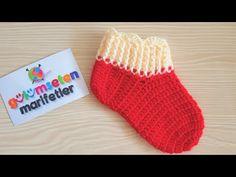 How to crochet baby booties for beginners – beginners baby shoes – Harika El işleri-Hobiler Crochet Bebe, Crochet Baby Booties, Filet Crochet Charts, Moda Emo, Christmas Stockings, Elsa, Baby Shoes, Pink, Booty