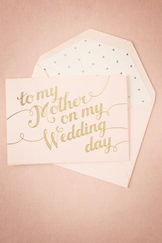 To My Mother Card from @BHLDN