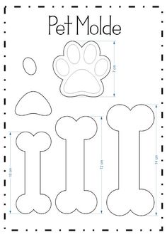 Kitty paw pencil tip (Pet molds) - Patchwork/nähen - Bolo Bolo Do Paw Patrol, Paw Patrol Cake, Paw Patrol Party, Paw Patrol Birthday, Dog Birthday, Dog Crafts, Felt Crafts, Diy And Crafts, Felt Christmas