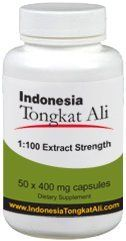 Natural Testosterone Booster - Indonesia Tongkat Ali Extract (100:1 extract strength) - 50 capsules - [also known as Longjack or Eurycoma Longifolia Jack]