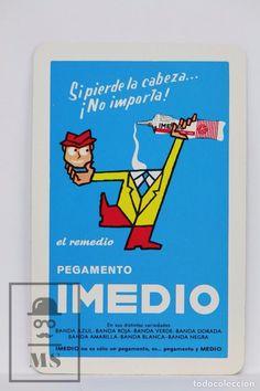 Calendario Publicitario Bolsillo, Fournier - Pegamento Imedio - Año 1982