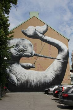 ROA, another of my favorite current artists. Street Art is where the real art is these days.