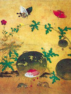 Shin.Saimdang-Chochungdo-03 - Shin Saimdang - Wikipedia, the free encyclopedia