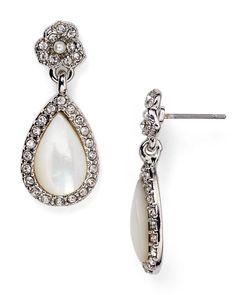 Carolee Floral Teardrop Earrings