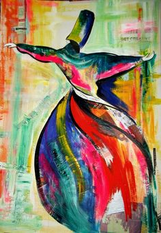 Whirling Dervish Sufi art representative of the spiritual order founded by Rumi.