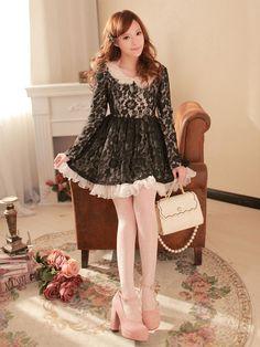 Mango Doll - Black Lace Dress , $61.00 (http://www.mangodoll.com/all-items/black-lace-dress/)