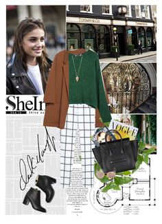 """Shein"" by i-do-have-a-ch0ice-fash10n ❤ liked on Polyvore featuring Zara, INC International Concepts, MANGO, Pamela Love, Art for Life, Paul Andrew, Linda Farrow, Sheinside and shein"