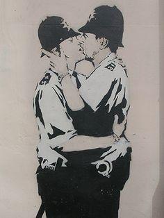Banksy in Brighton, UK.  2006