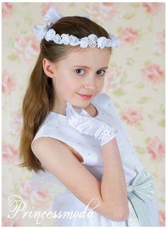 066 - Das Fest naht! Hier ist Ihr Haarkranz! - Princessmoda - Alles für Taufe Kommunion und festliche Anlässe