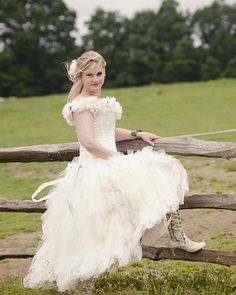 - Kalee & Grantt from BBC's 'Don't tell the Bride'! Kalee is wearing Evangeline Elliot in Ivory
