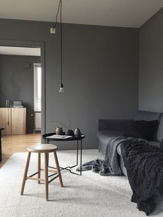 Find dark living rooms interior design only on this page Masculine Living Rooms, Living Room Grey, Living Room Interior, Manly Living Room, Small Living Room Furniture, Paint Colors For Living Room, Furniture Nyc, Small Living Rooms, Cheap Furniture