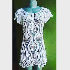 No Instagram, na pagina de perolas do crochêhttps://www.instagram.com/perolasdocrochet_renata/, blusa em crochê modelo Gisele    Modelo Gi...