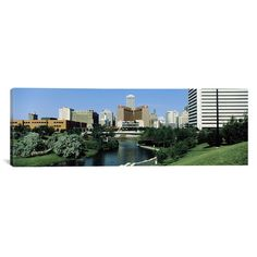 "East Urban Home Panoramic Omaha, Nebraska Photographic Print on Canvas Size: 16"" H x 48"" W x 0.75"" D"