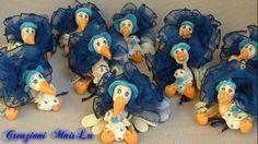 Cicogne per nascita e battesimo Pasta Flexible, Cold Porcelain, My Works, Smurfs, Children, Fictional Characters, Art, Young Children, Art Background