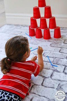 Okulöncesi Sanat ve Fen Etkinlikleri: Okulöncesi Dart Oyunu (külah savaşları)