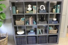design indulgence: Expedit shelving from Ikea in glossy gray