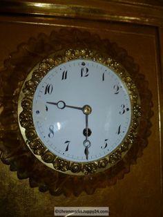 Wanduhr Rahmenuhr Holz vergoldet Gehwerk - Mechanische - Standuhren - Clock, Wall, Home Decor, Grandfather Clocks, Desk Clock, Frame, Watch, Decoration Home, Room Decor