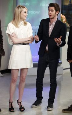 Spiderman's Sweethearts: A Look Back at Emma Stone and Andrew Garfield's Adorably Chic Couple Style: On the Today show on June 25 in New York.