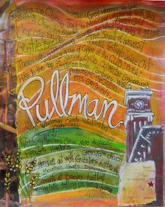 Pullman WA... Home of Washington State by MaryKlumpStudio on Etsy