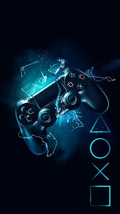Download wallpapers PlayStation, 4k, logo, creative