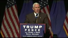 Republican VP nominee and Indiana Gov. Mike Pence holds a campaign rally.