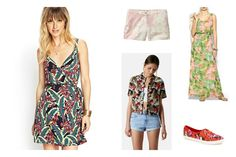 Tropical prints are fun for sunny days