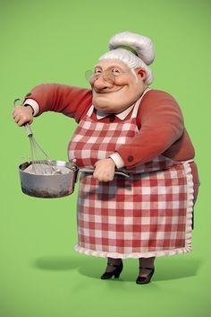 3D Granny Character