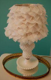 Bulldogs and Babies: Flower Petal Lamp Shade DIY