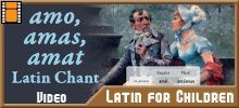 Latin videos, games, stories, and activities. Made to accompany the Latin for Children program.