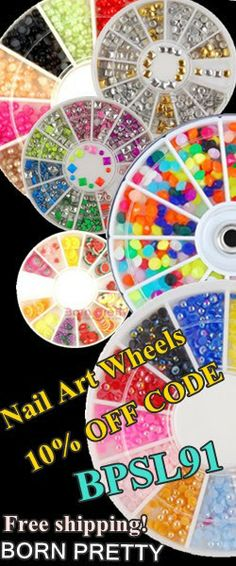 Nail Art Wheels 10% off!!  http://www.bornprettystore.com/show.php?filter=new_arrivals&cid=414