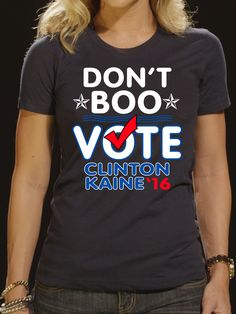 40835754 Amazon.com: Men's Don't Boo - Vote Clinton-Kaine Obama Slogan T-Shirt 3XL  Baby Blue: Clothing