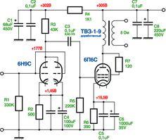 SE 6П6С   УМЗЧ.РФ Valve Amplifier, Audio Amplifier, Led Projects, Electronic Schematics, Vacuum Tube, Diy Electronics, Arduino, Circuits