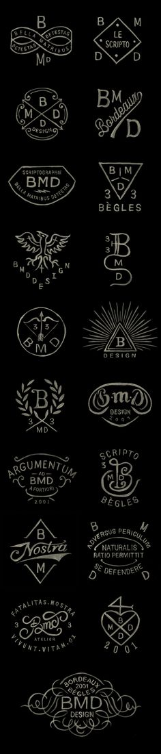 BMD Design logos / Watercolor