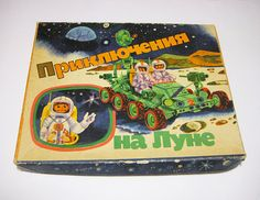 """Travel to Moon"" Soviet board game, 1980s"