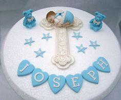Image result for Baby Boy Baptism Cake Topper