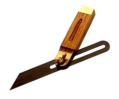 Bevel Square ( Malleable steel body with steel screw, Wooden stock with steel blade and brass screw )