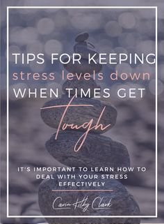 Tips for Keeping Stress Levels Down When Times Get Tough // Carin Kilby Clark -- Stress Less, Work Stress, Highly Sensitive Person, Online Business, Business Tips, How To Plan, How To Get, Self Care, Are You Happy