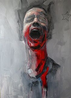 Jonny Burt: Ryan Hewett Painter: Screaming for Freedom Arte Horror, Horror Art, Abstract Portrait, Portrait Art, Art Alevel, Arte Obscura, Human Art, Human Human, Expressive Art