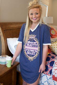 Jadelynn Brooke: Wake Up Beauty Sleep Shirt {Navy}