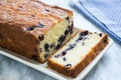 Lemon Blueberry Ricotta Pound Cake (remember to coat the blueberries in flour so they won't sink to the bottom!)
