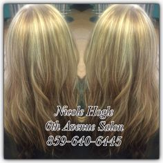 Golden blonde    Highlights starting at $75/Balayage/ombre starting at $85. Haircuts included with all colors $75 and over.       styleseat.com/nicolehogle 859-640-6445 Dew or Dye 33 east 8th Newport Ky 41071