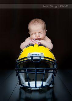 newborn photo, sports photo, sport baby, michigan