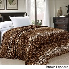 Home Soft Things BNF Home Animal Safari Printed Flannel Fleece Blanket Leopard Bedroom, Leopard Print Bedding, Online Bedding Stores, Bnf, Dream Rooms, Bed Design, Comforter Sets, Luxury Bedding, Houses