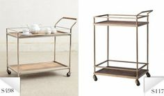 Knockoff Anthropologie-Inspired Bar Cart on Sale at Target for $116.99!