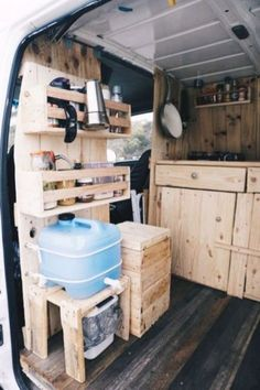 compact kitchen for cabin or camper - maybe summer kitchen at semi or permanent . - compact kitchen for cabin or camper – maybe summer kitchen at semi or permanent camp - Kombi Trailer, Kombi Motorhome, Cargo Trailers, Travel Trailers, Rv Travel, Travel Hacks, Adventure Travel, Bus Camper, Camper Life