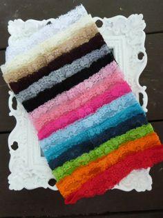 Plain Headband - Stretch Lace Headbands by HairAccessoriesByMeg, $12.00