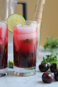 Blueberry Cherry Mojito - Hip Foodie Mom