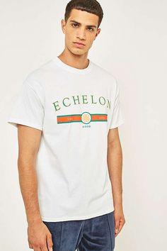 Slide View: 1: UO Echelon White T-shirt